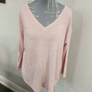 George Pink long-sleeve v-neck